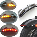 W/ LED Flasher Clear Rear Chopped Fender Edge LED Tail Light W/ Turn SignalFits fits for Harley Sportster 883 XL883N XL1200N Cho