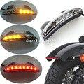 W/LED Intermitente Clear Trasero Picado Guardabarros Edge LED Luz Trasera W/Turn SignalFits adapta para Harley Sportster 883 XL883N XL1200N Cho
