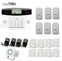 SmartYIBA Wireless GSM SMS Home Alarm Kits Door Gap Sensor PIR Motion Detector Horn Alarm System