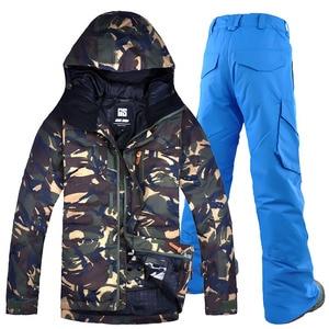 2018 Winter Windproof Ski Jacket+pants Men Gsou Snow Skiing Suit Sets Men Snowboarding Clothing Outdoor Snow Sport  Waterproof