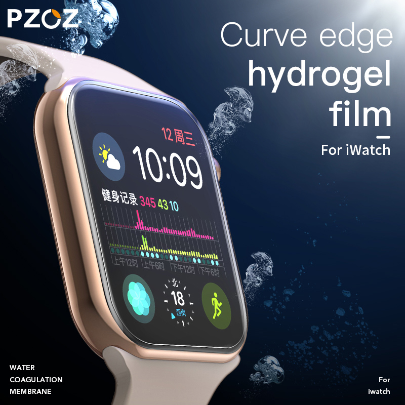 PZOZ Full Screen Protector Glass For IWatch 5 4 Hydrogel Film For Apple Watch 1 2 3 Tempered Film HD Curve Edge Glass 38mm 42mm
