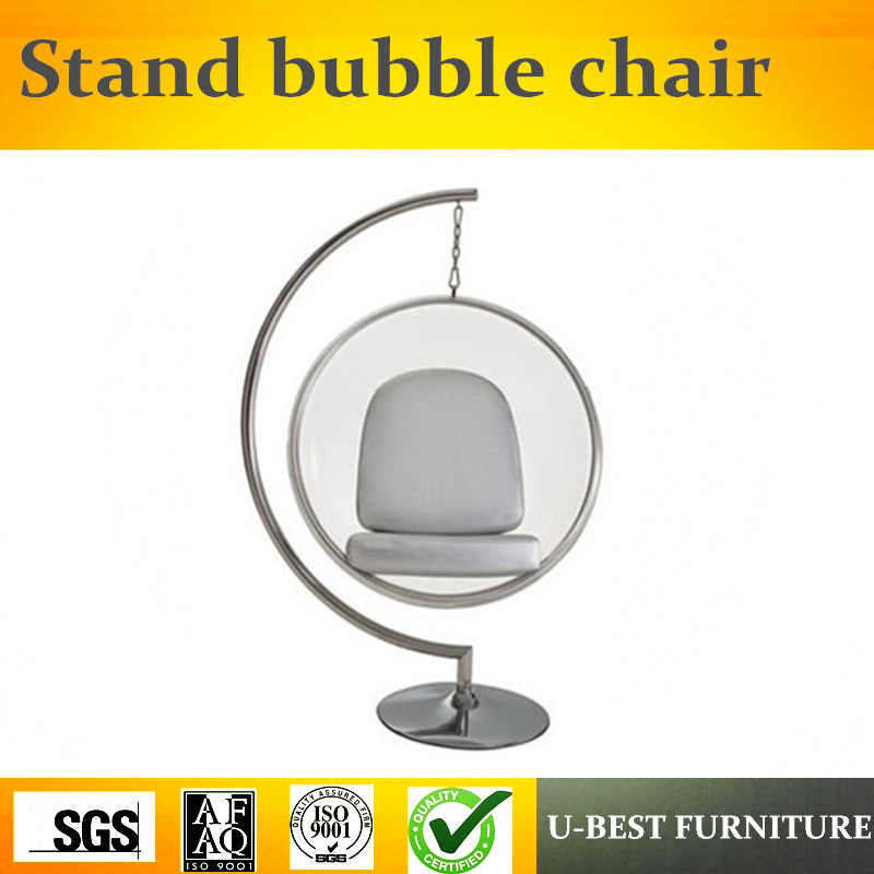 U BEST Beautiful Strong Living Room Furniture Bubble Chair Crystal Acrylic Hanging Bubble Chair,Indoor Half ball leisure chair