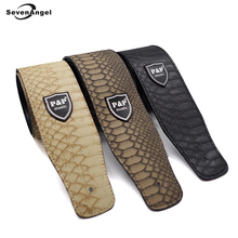 PU Leather Snake Skin Style Guitar Strap Invironmental Man-Made Leather Electric Guitar Acoustic Guitar Folk Guitar Bass Strap