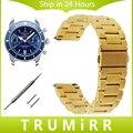 18mm 20mm 22mm Faixa de Relógio de Aço Inoxidável Alça de Liberação Rápida para breitling pulseira das mulheres dos homens da correia de pulso preto ouro rosa prata