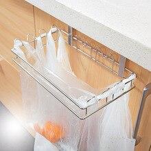 Eco-Friendly Garbage Bag Stand Litter Bag Holder Novelty Kitchen Cupboard Drawer Door Waste Bin Bucket Dustbin Stainless Steel