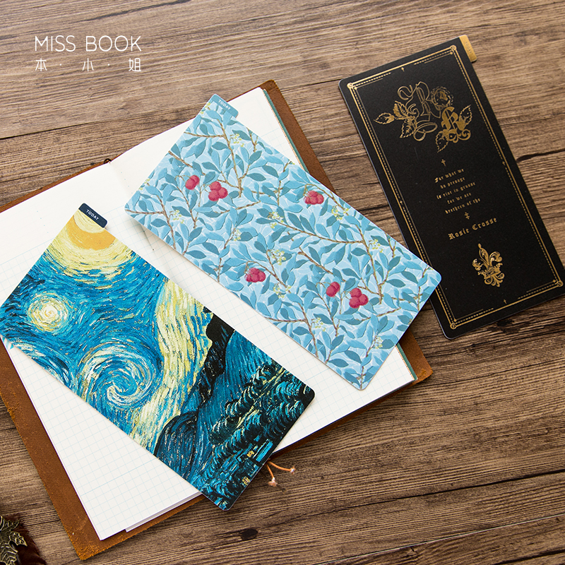 Creative Notebooks Divider Ruler Board For Diary Writing Plate Mat Bookmark Travelers Notebook Planner Accessories Stationery