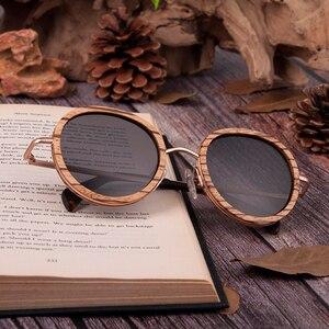Image 4 - BOBO kuş toptan Zebra ahşap bambu ahşap güneş gözlüğü polarize güneş gözlükleri bayanlar gözlük gafas de sol mujer ahşap kutu içinde