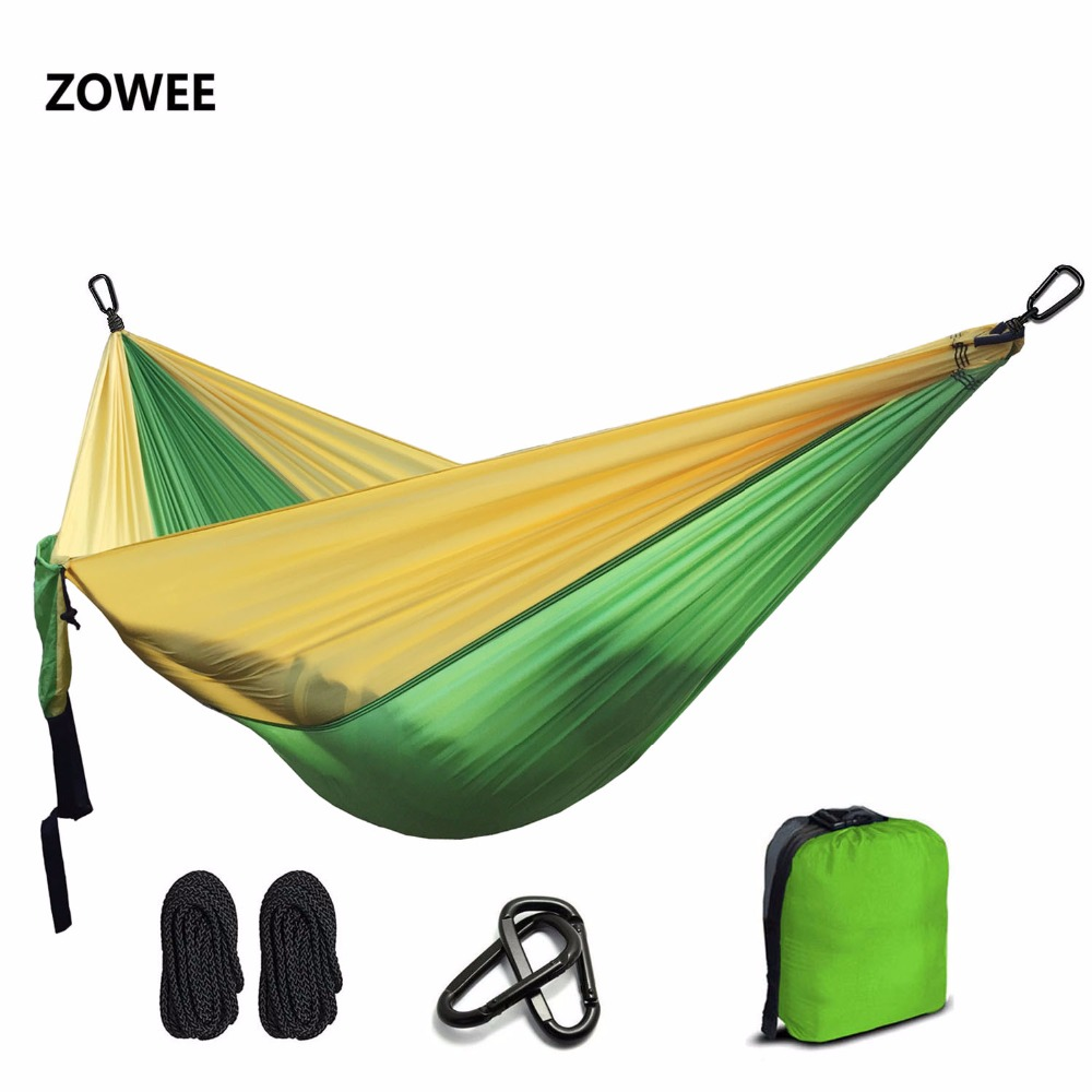 Ultralight Nylon Parachute Hammock Camping Survival Garden  Hunting Leisure Hamac Travel Double Person Hamak Free shipping