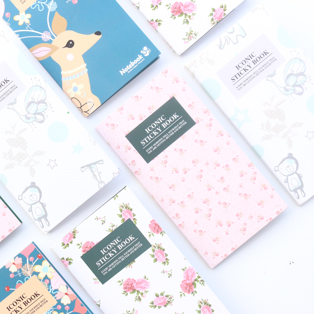 Domikee new cute cartoon school student sticky note pad stationery,fine candy portable memo pad index label book Lahore