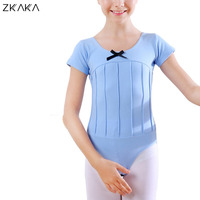 ZKAKA Girls' Leotard Tops Kids Short Sleeve Bodysuit Gymnastics Ballet Dance Costume Dancewear