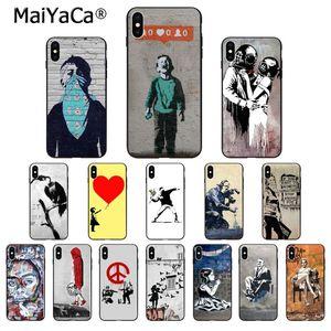 MaiYaCa Street Art Banksy Graffiti Customer High Quality Phone Case for Apple iPhone 8 7 6 6S Plus X XS MAX 5 5S SE XR Cover(China)