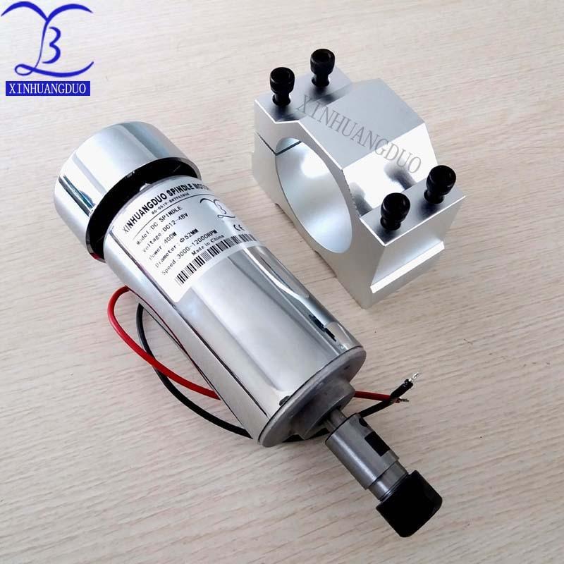 52 мм шпиндель ЧПУ 400 Вт ER11 патрон постоянного тока 12-48 в 400 Вт Шпиндельный двигатель ЧПУ для гравировального Станка + зажим ER11 3,175 мм для гравир...