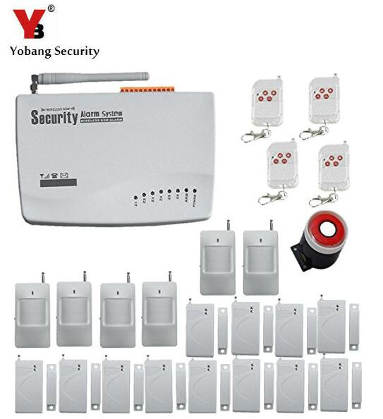 Yobang Security   GSM Wireless alarm system PIR Home Security Burglar Alarm System Auto Dialing Dialer SMS Call wireless service call bell system popular in restaurant ce passed 433 92mhz full equipment watch pager 1 watch 7 call button
