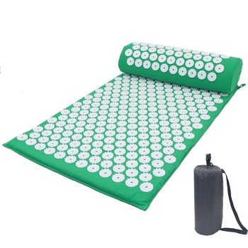 Acupressure Massager Mat Relaxation Relief Stress Tension Body Yoga Mat Spike Relieve Stress Pain Cushion Set 2