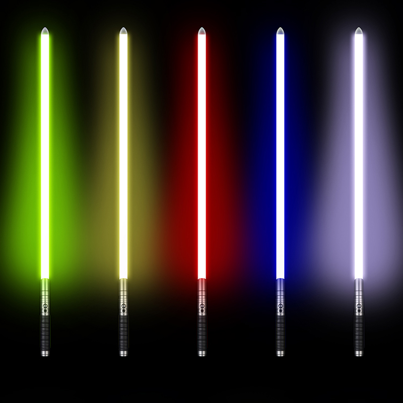 LGT RGB Sabre Laser Jedi Sith Luke Light Saber Force FX Lourd Duel Rechargeable Changement de Couleur Son FOC enfermer En Métal poignée - 5