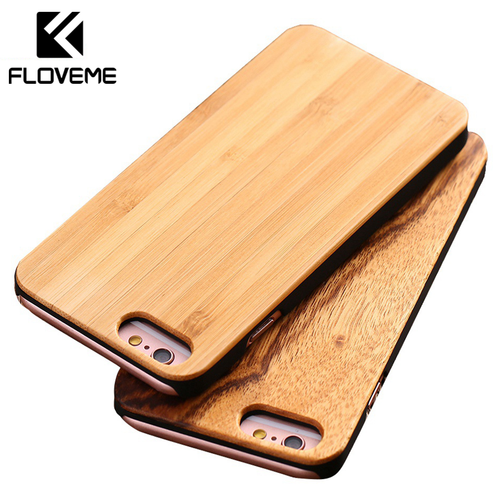 FLOVEME Real Wood Phone Case For iPhone 7 Plus 6 6S Plus 5 5S SE Cases For Apple