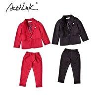 ActhInK New Arrival Kids Spring Wedding Suit For Boys Brand School Boys 2Pcs Formal Blazer Suit