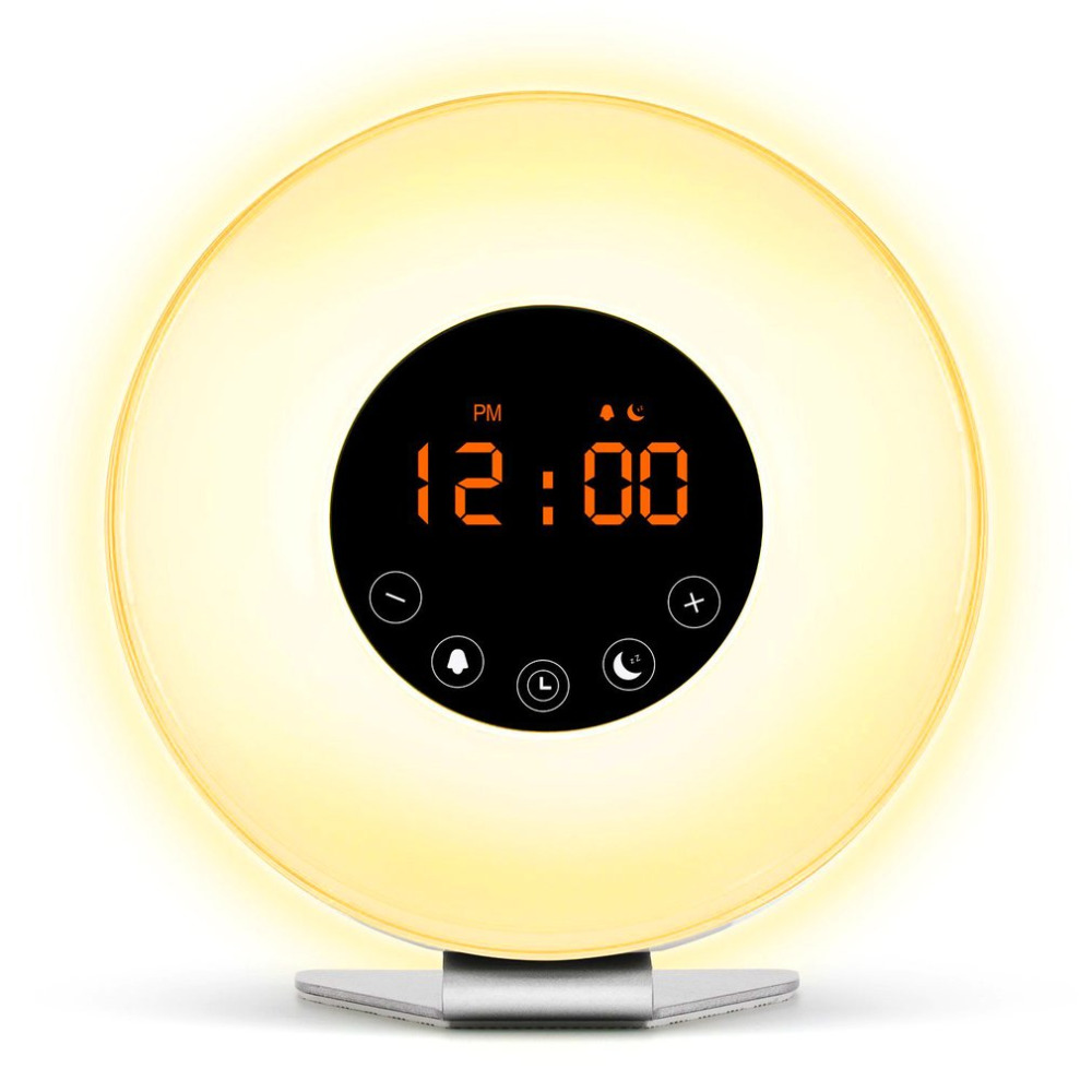 Sunrise Alarm Clock Digital Led Time Display Morning Wake