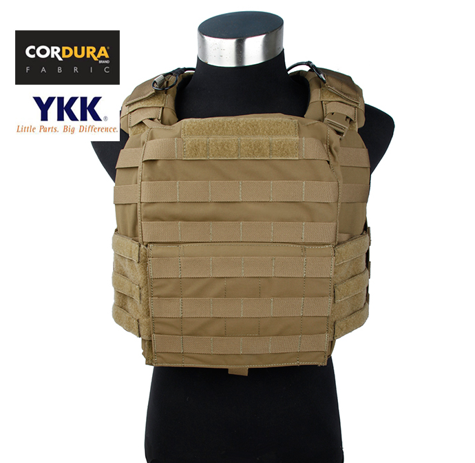 Cordura Coyote Brown Tactical Military Cage Armor CAC Plate Carrier Vest+Free shipping(STG050982)