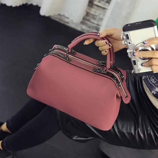 Boston handbags 2017 new Europe handbag bag fashoin doctor Shoulder bag Messenger Bag Bolsa Femininas 576