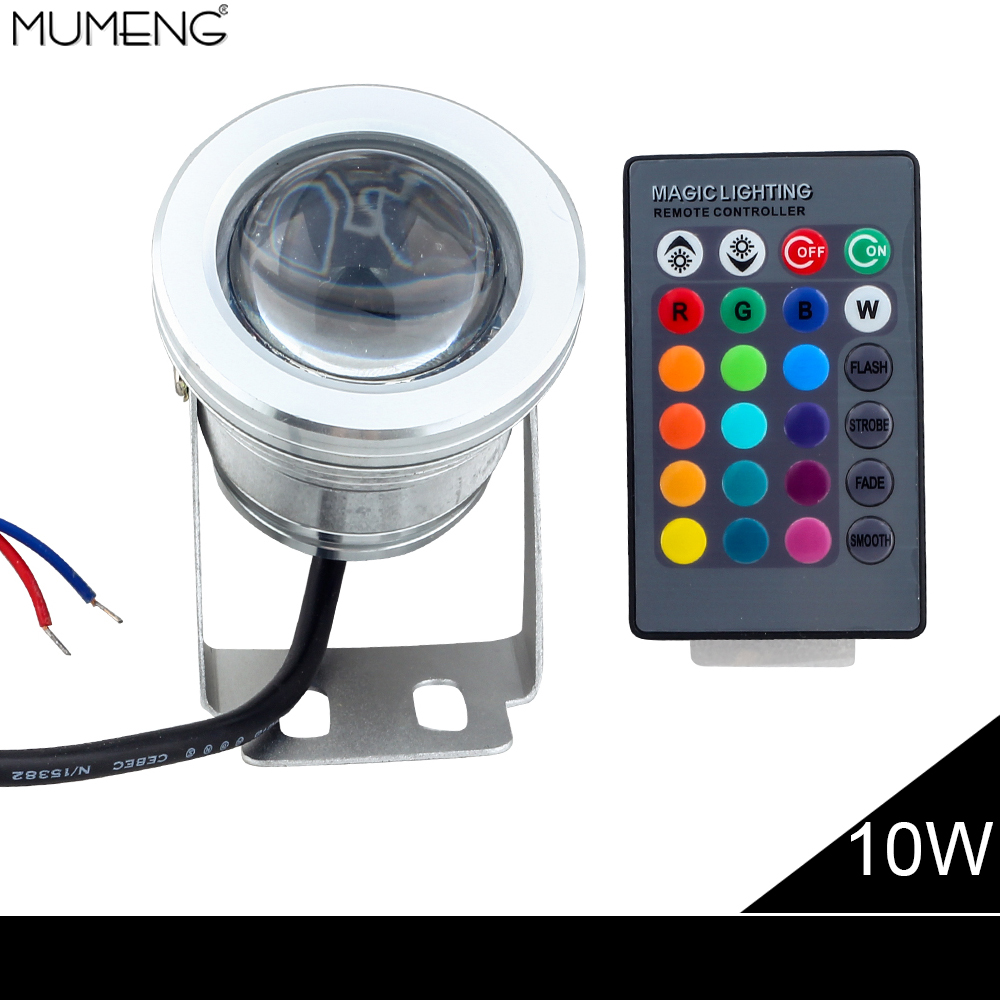 Led Landscape Lighting Controller: MUMENG Remote Control RGB LED Floodlight 10W Color