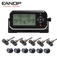 EANOP Truck Car Wireless TPMS LCD Display Real time Tire Pressure Monitoring System 6pcs External Internal Sensors for 6 Tires