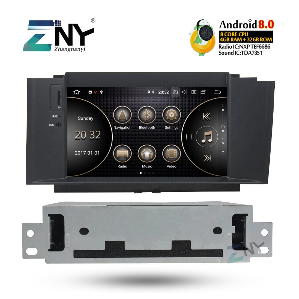 7 HD Android 8.0 Auto Radio FM Para Citroen C4 C4L DS4 2011 2012 2013 2014 2015 2016 + carplay opcional/DAB +/64 GB ROM/Papagaio BT