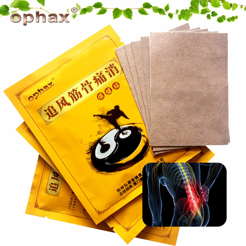 OPHAX 5pcs Chinese Herbal Patches Medical Plasters For Joint Back Cervical Spondylosis Arthritis Muscle Pain Patch Relief