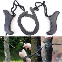 HOT Outdoor Survival Chain Saw Hand ChainSaw Fast Cutting Camping EDC Tool Pocket Gear