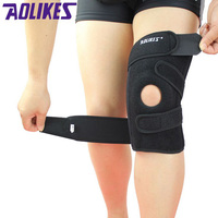 2015 Four Spring Support EVA Breathable Sports Knee Pads Brace Support Protect Knee Protector Kneepad Ginocchiere