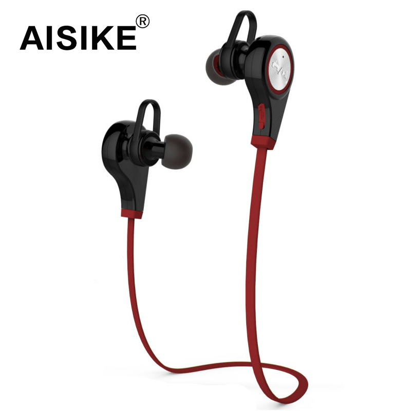 AISIKE Bluetooth4.0 Earphone Wireless Sports In-ear Headset Running Music Stereo Earbuds Handsfree with Mic Smartphones aisike mini stereo car bluetooth headset wireless earphone bluetooth handsfree car kit with 2 usb base charging dock