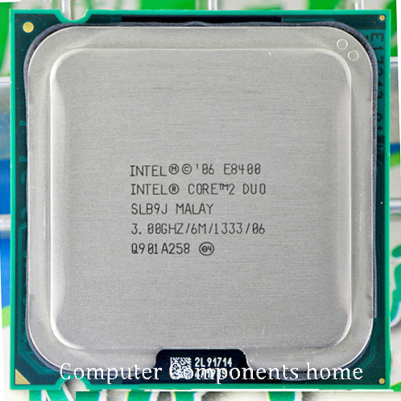 معالج انتل كور 2 Duo E8400 CPU Core 2 duo الأصلي e8400 (3.0 Ghz/6 M/1333 GHz) مقبس LGA 775