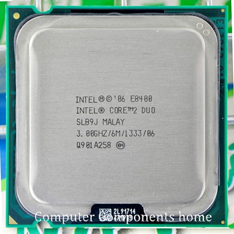 Originale INTEL Core 2 Duo E8400 CPU core 2 duo e8400 (3.0 Ghz/6 M/1333 GHz) Socket LGA 775