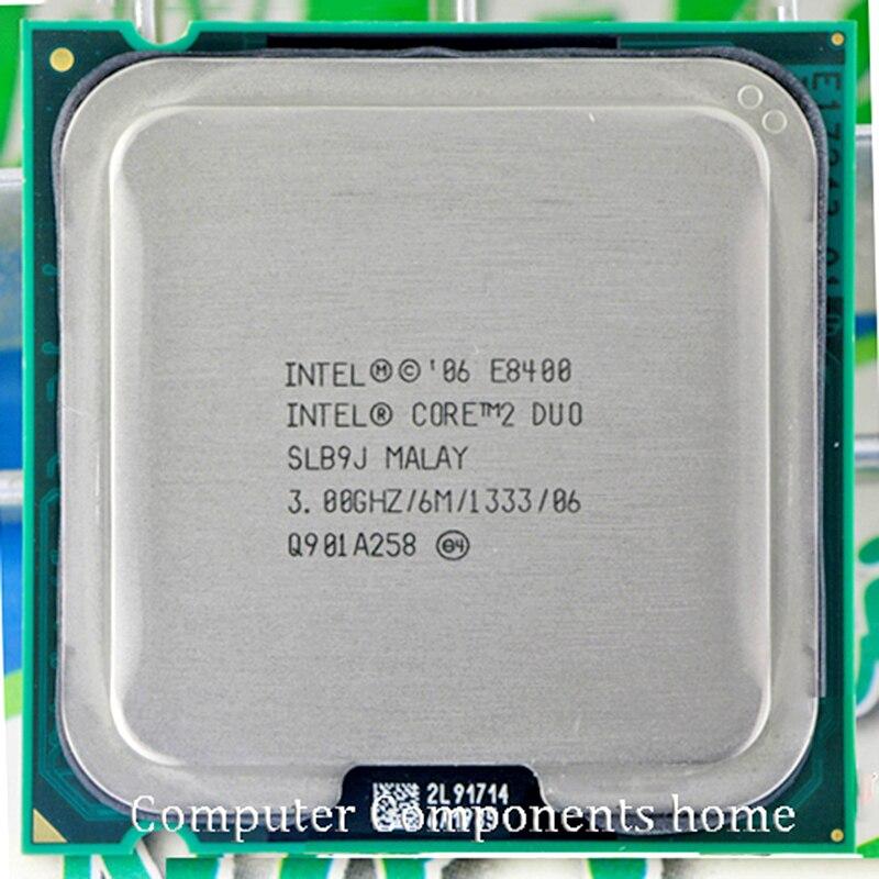 Originele Intel Core 2 Duo E8400 Cpu Core 2 Duo Processor E8400 (3.0 Ghz/6 M/1333 ghz) socket Lga 775