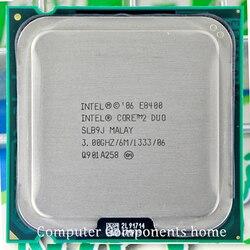 Orijinal INTEL Core 2 Duo E8400 CPU çekirdek 2 duo İşlemci e8400 (3.0 Ghz/6 M/1333 GHz) soket LGA 775