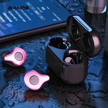 HIFI słuchawki douszne bezprzewodowe z bluetooth podłączyć dwa urządzenia w tym samym czasie, z opłat Box