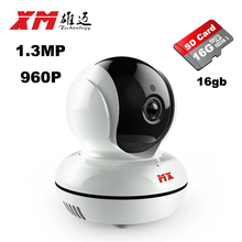XM IP Network Surveillance Camera+16GB Mini Wifi Security Video Monitoring Viewing Angle140 Round Two-way Audio Smart Phone
