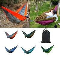 Canvas Garden Hammock Fast Outdoor Camping Hiking Portable Travel Beach Fabric Swing Beach Flatfish Sleeping
