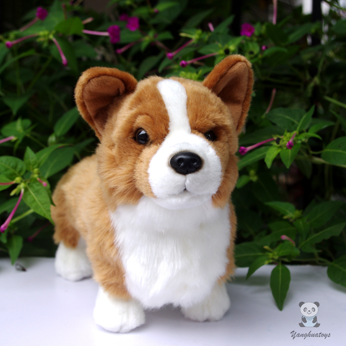 Welsh Corgi Doll  Plush Dogs  Kids Toys  Cute  Corgi  Simulation Stuffed Animals  Children'S Educational Toy Gift super cute plush toy dog doll as a christmas gift for children s home decoration 20
