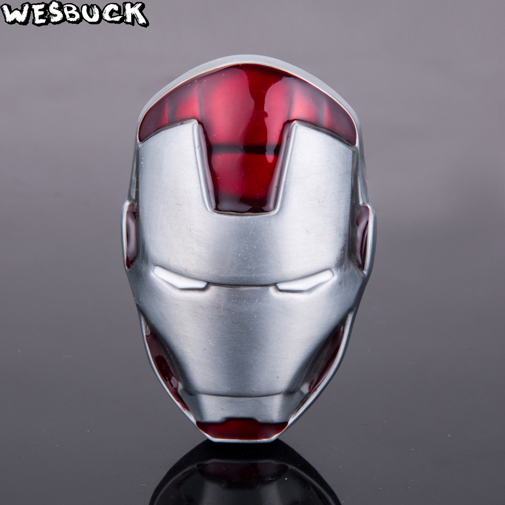 WesBuck Brand Iron Man Head Mask Metal Belt Buckle Marvel ...