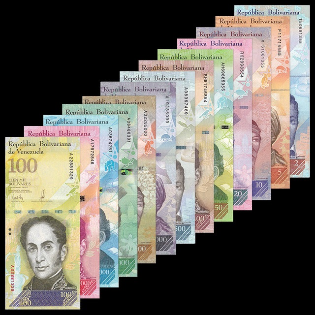 Venezuela Set 13 PCS 2-100 500-20000 100000 Bolivares, 2007-2017, UNC, Collectibles, Genuine, Original Notes