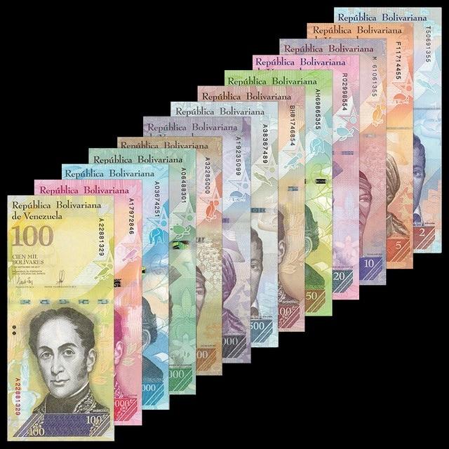 Venezuela Set 13 PCS 2-100 500-20000 100000 Bolivares, 2007-2017, UNC, Collectibles, Genuine, Original Notes