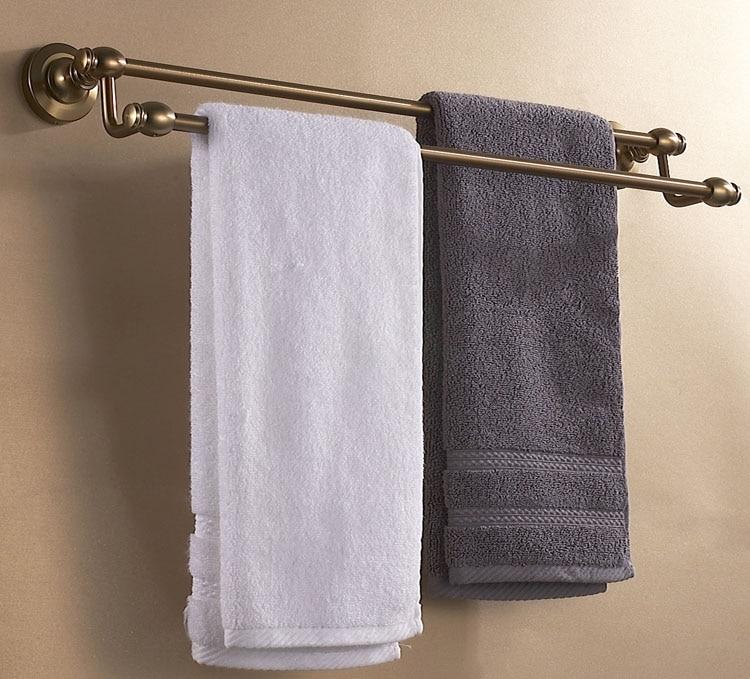 ФОТО Antique double towel bar bathroom towel rack holder bathroom antique hardware accessories