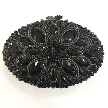 Модные черные/Золотые большие стразы, женские вечерние клатчи, сумки с кристаллами, женские сумочки с драгоценными камнями, мини-сумочки на цепочке с бриллиантами