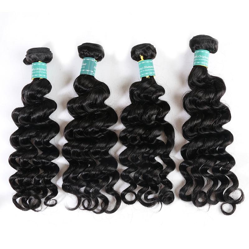 Treu Ali Fumi Königin Haar 4 Pcs Lot Peruanische Natürliche Welle Haar Bundles Natürliche Farbe 100% Remy Menschenhaar-verlängerung Kostenloser Verschiffen Haarverlängerung Und Perücken Haarsalon Versorgungskette