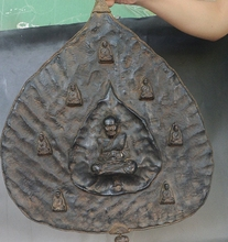 16 «Редкие Тибет Буддизм Затвердевания Ладан пепел Будды Статуя Стене висит