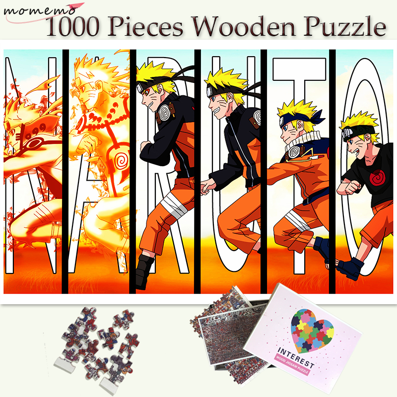 MOMEMO Naruto's Growth Puzzle Toys Wooden 1000 Pieces Jigsaw Puzzles Adults Teenagers Puzzle Toys Customized 1000 Puzzle Games