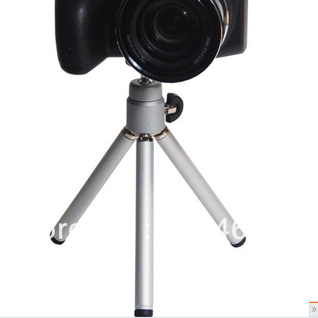 Free shipping 1PCS Mini Tripod Aluminum Metal Lightweight Tripod Stand Mount For Digital Camera Webcam Phone DV Tripod