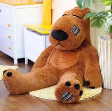 huge Unlucky bear plush toy sitting brown the biggest unlucky bear doll  birthday gift about 180cm