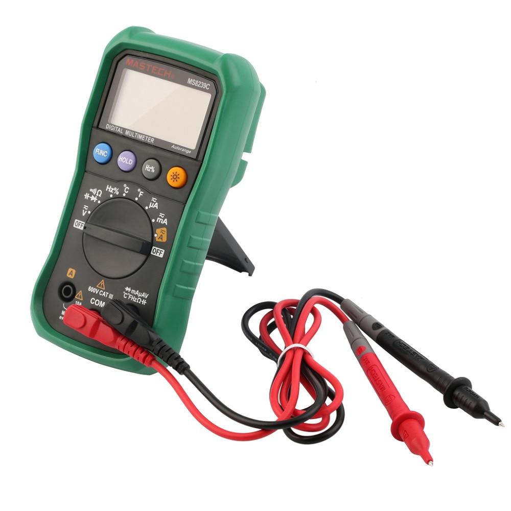 2017 MASTECH Handheld Auto range Digital Multimeter AC DC Voltage Current Capacitance Frequency Temperature Tester